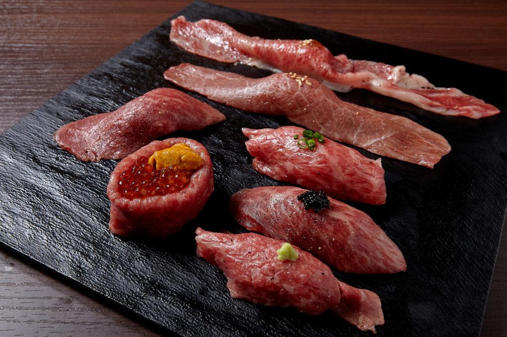 肉寿司七種盛り合せ