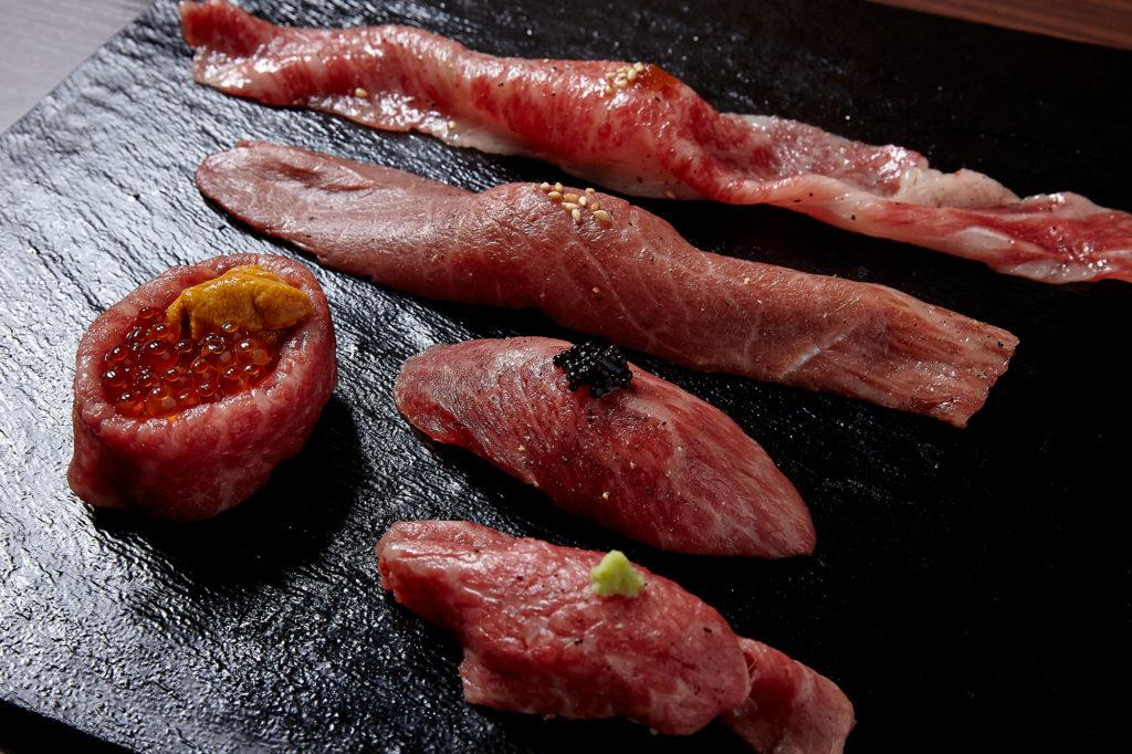 肉寿司五種盛り合せ