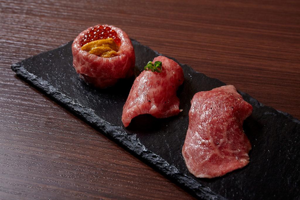 肉寿司三種盛り合せ